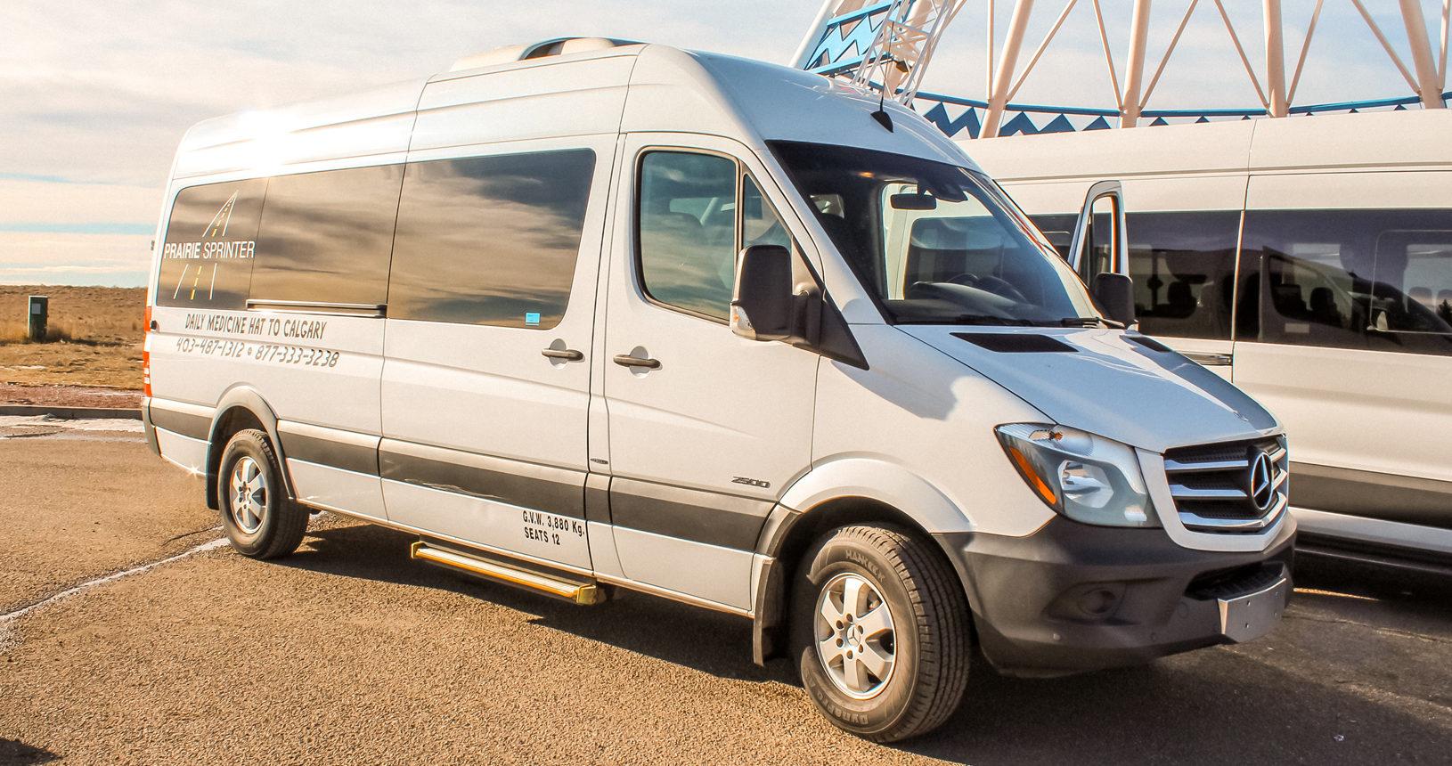 10 Passenger Mercedes Van to charter through Prairie Sprinter