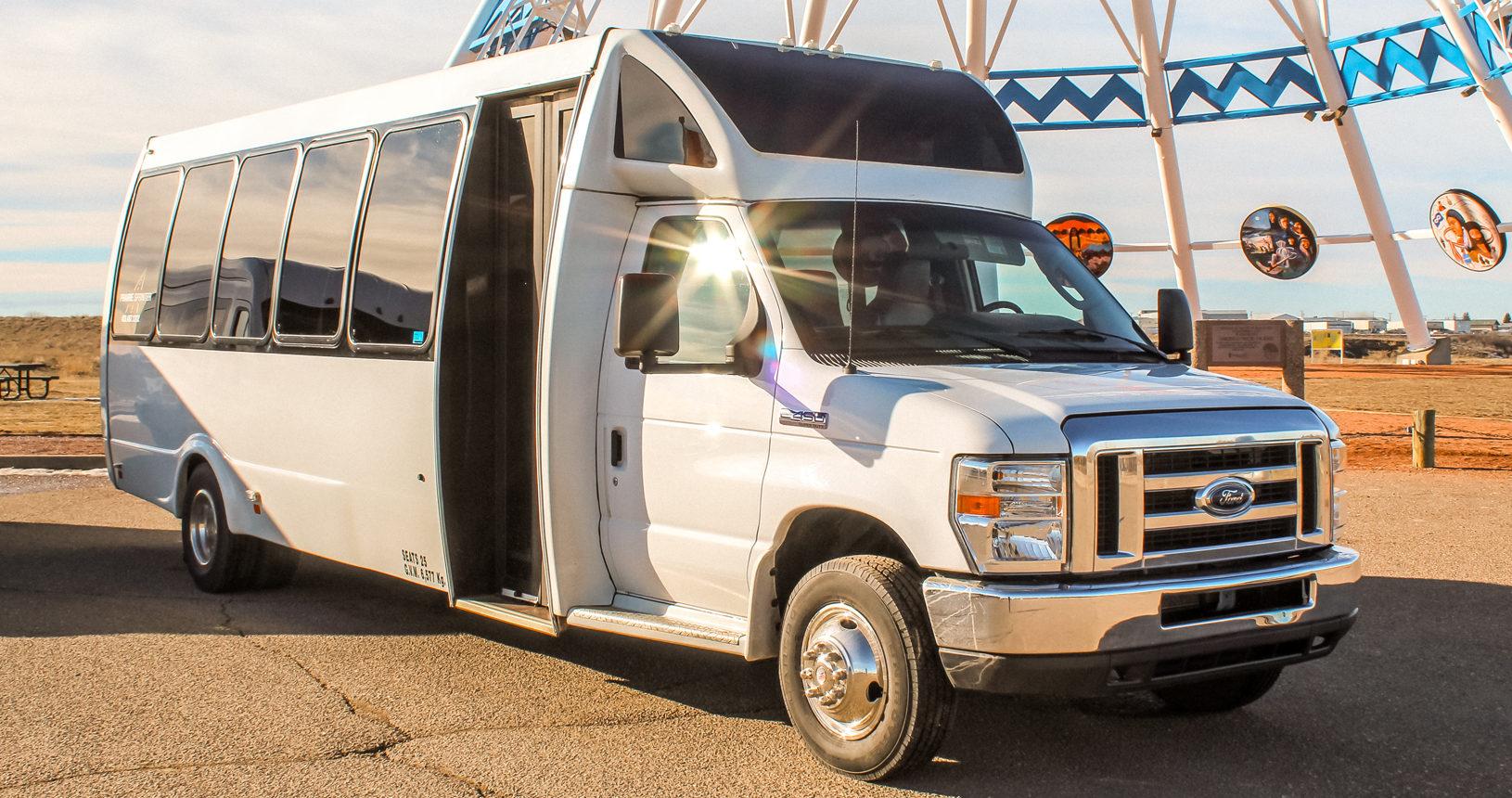 24 Passenger Mini-Coach to charter through Prairie Sprinter